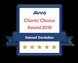 Sam Dordulian - Avvo Client Choice Award 2019